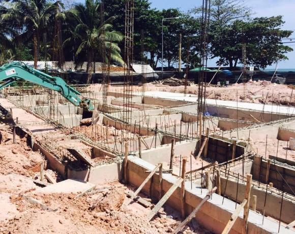 """งานก่อสร้างโครงการ """"Peggy Cove Resort"""""""