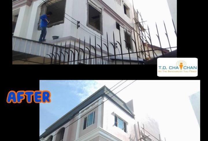 ต่อเติมบ้านพักอาศัย 3 ชั้น   (ภายใน และ ภายนอก)