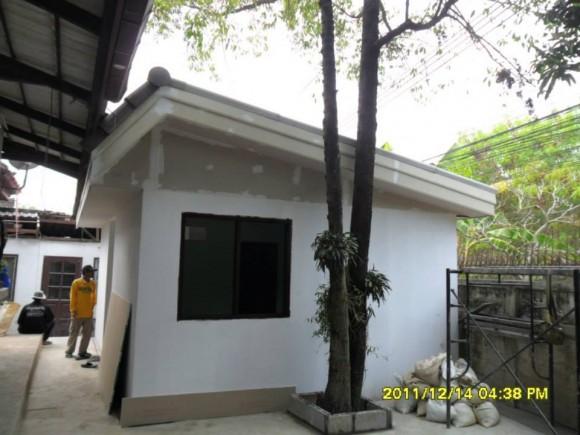 ต่อเติมสร้างเรีอนคนรับใช้ และ ห้องซักรีดหลังบ้าน