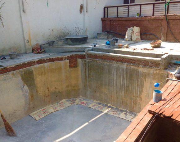 งานสร้างบ่อปลา(พร้อมบ่อบำบัดระบบน้ำวน)